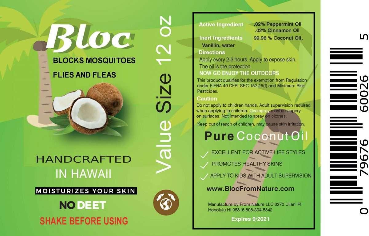 Bloc ingredient label
